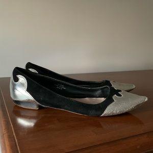 ASOS Silver Toe Ballet Flats